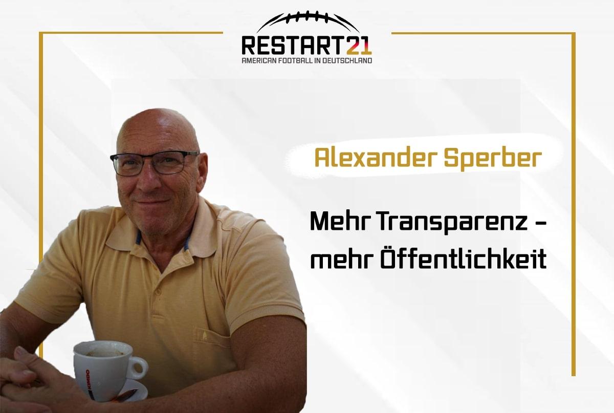 Alexander Sperber Mehr Transparenz - mehr Öffentlichkeit