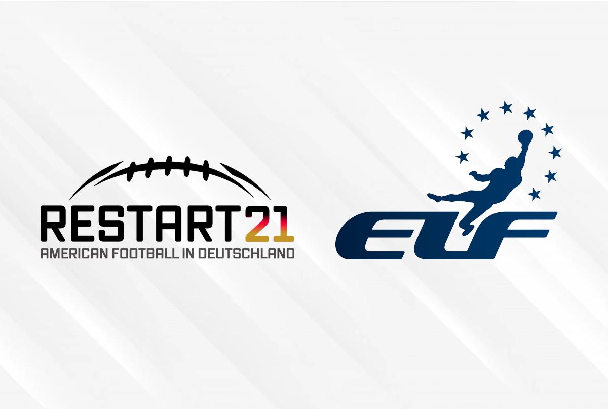 links: Logo RESTART21, rechts: erstes Logo der ELF