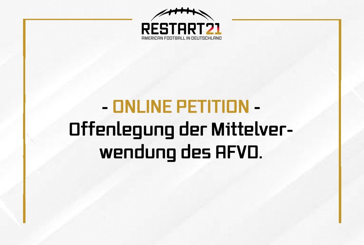 Grafik Online-Petition zur Offenlegung der Mittelverwendung des AFVD