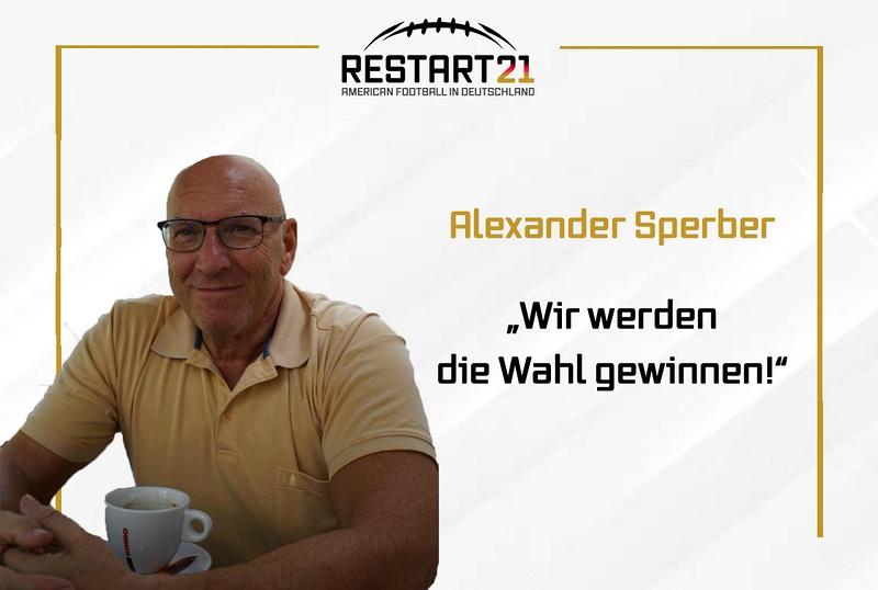 """Portrait Alexander Sperber, rechts davon Artikelüberschrift """"Wir werden die Wahl gewinnen!"""""""