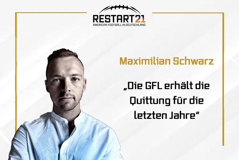 Portrait Maximilian Schwarz, rechts davon Text: Die GFL erhaelt die Quittung fuer die letzten Jahre