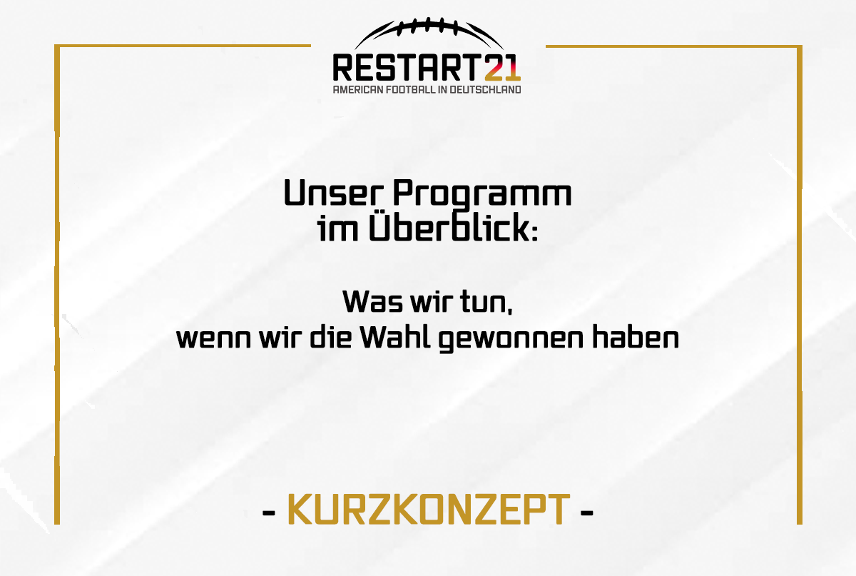 Grafik RESTART21 Kurzkonzept Programm