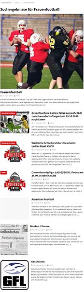 Screenshot 01.05.2021, Webseite afvd.de, Suchergebnisse für Frauenfootball