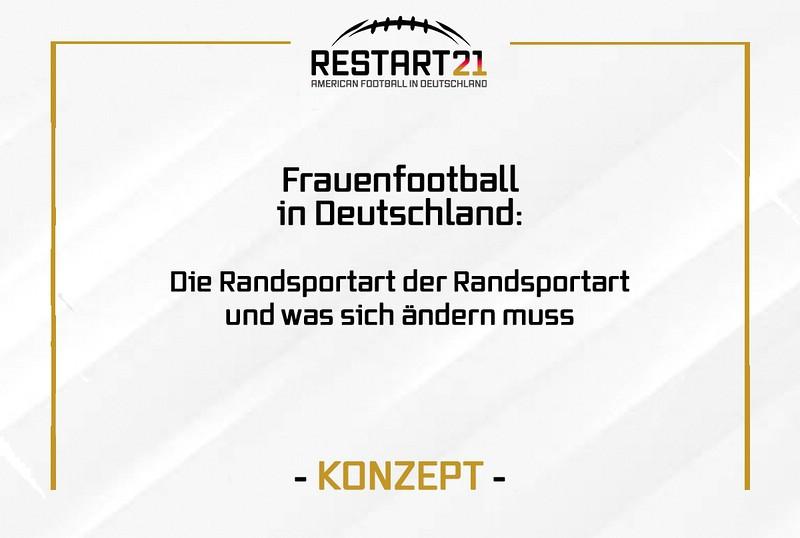 Grafik: Frauenfootball in Deutschland. RESTART21 Konzept